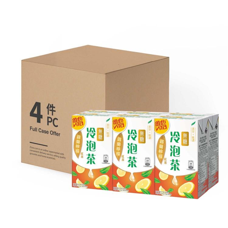 VITA 維他 - 冷泡無糖茶-錫蘭檸檬茶 -原箱 - 250MLX6X4