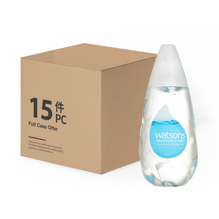 WATSONS - NATURAL MINERAL WATER -CASE - 420MLX15