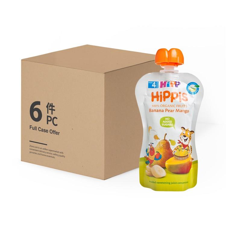 HIPP - ORGANIC BANANA PEAR MANGO- CASE - 100GX6