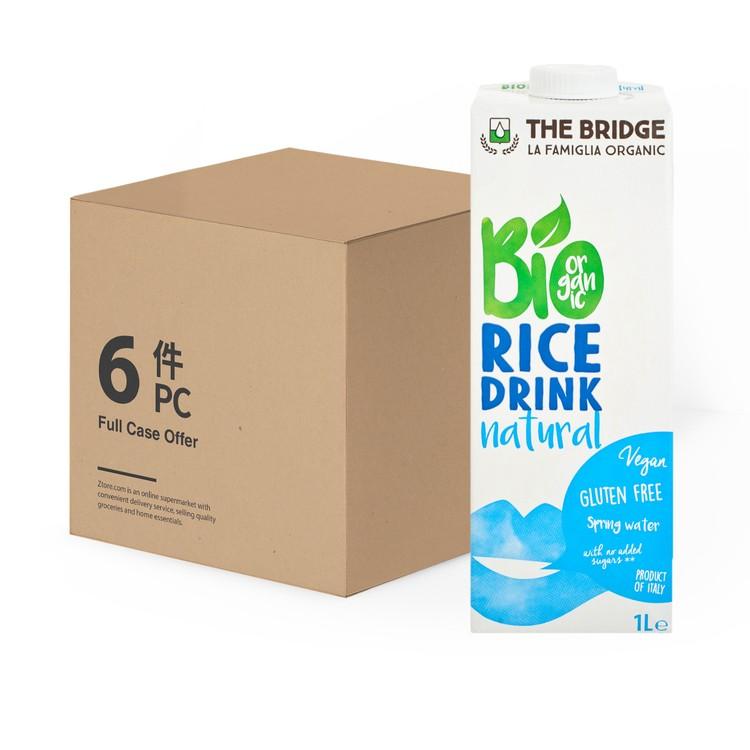THE BRIDGE - BIO RICE DRINK-NATURAL -CASE - 1LX6