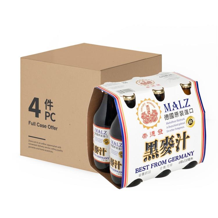 崇德發 - 天然黑麥汁-原箱 - 330MLX6X4