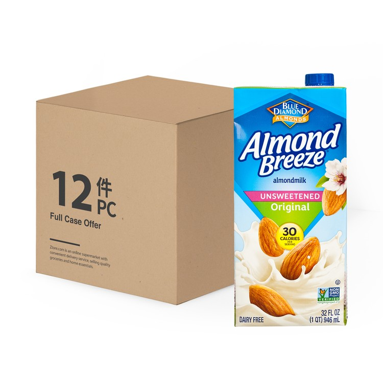 BLUE DIAMOND(PARALLEL IMPORT) - ALMOND BREEZE UNSWEETENED-ORIGINAL-CASE OFFER - 946MLX12