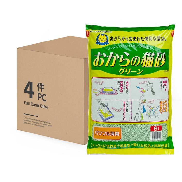 HITACHI - 豆腐貓砂 - 翠綠 - 原箱 - 6LX4