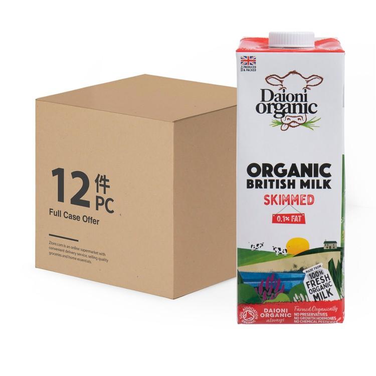 DAIONI 綠牛牛 - 有機全脫脂奶-原箱 - 1LX12