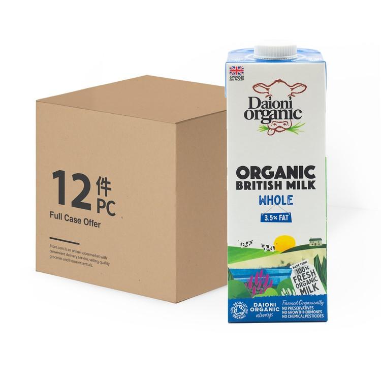 DAIONI 綠牛牛 - 有機全脂奶-原箱 - 1LX12