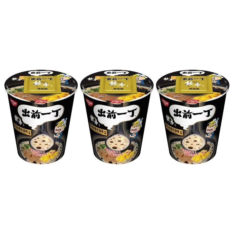 出前一丁 - 杯麵-黑蒜油豬骨湯味 - 72GX3