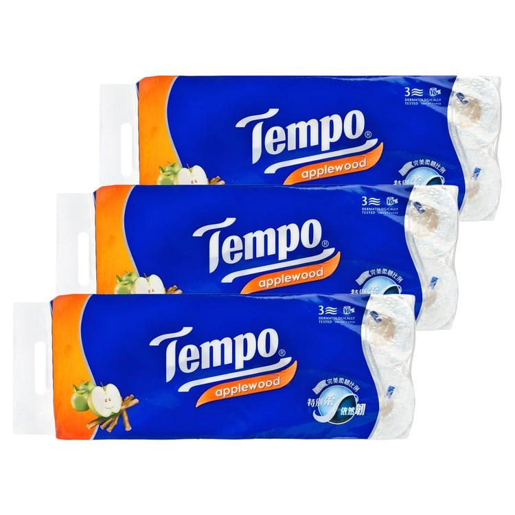 TEMPO - 三層印花衛生紙-蘋果木香味 - 3件裝 - 10'SX3