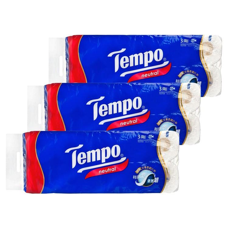 TEMPO - 三層純白衛生紙-無味 - 3件裝 - 10'SX3