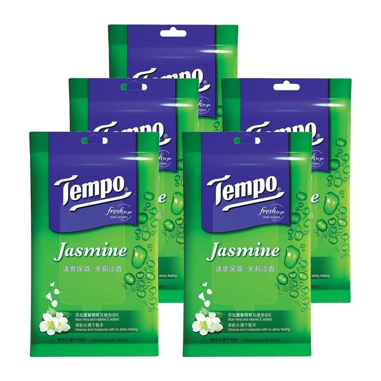 TEMPO - 清爽保濕茉莉淡香濕紙巾 - 5件裝 - 10'SX5