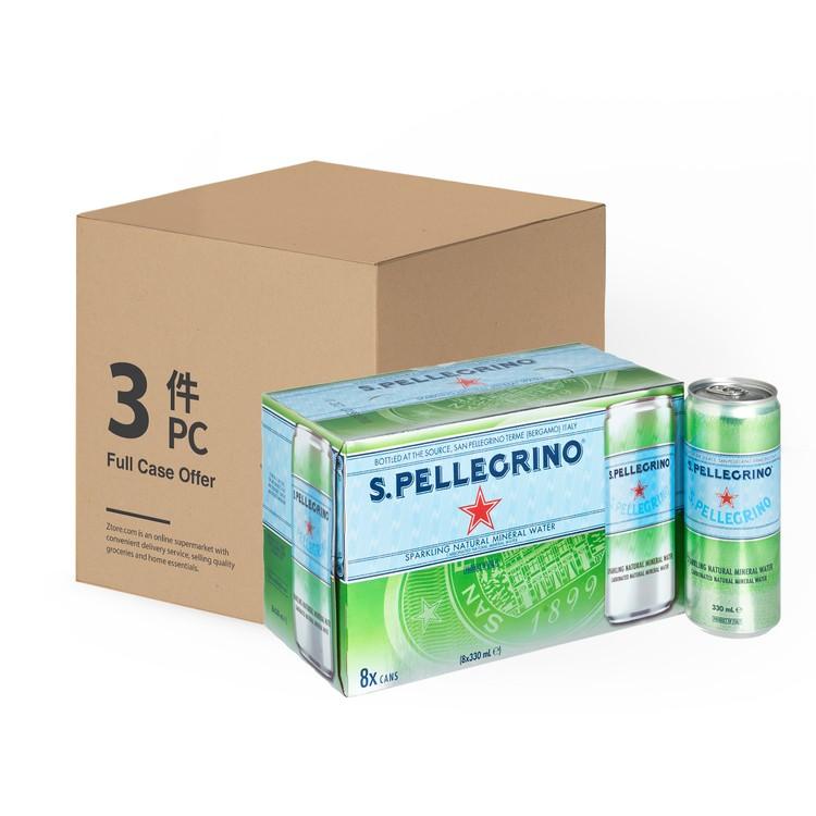 聖沛黎洛 - 有氣天然礦泉水-原箱 - 330MLX8X3