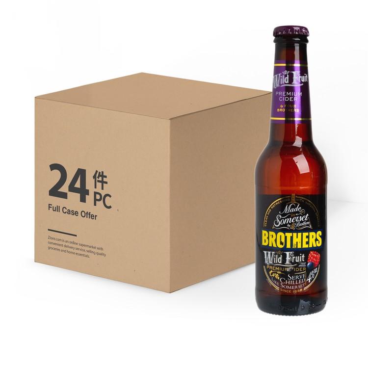 BROTHERS - 有氣蘋果酒 - 野果(原箱) - 275ML X24