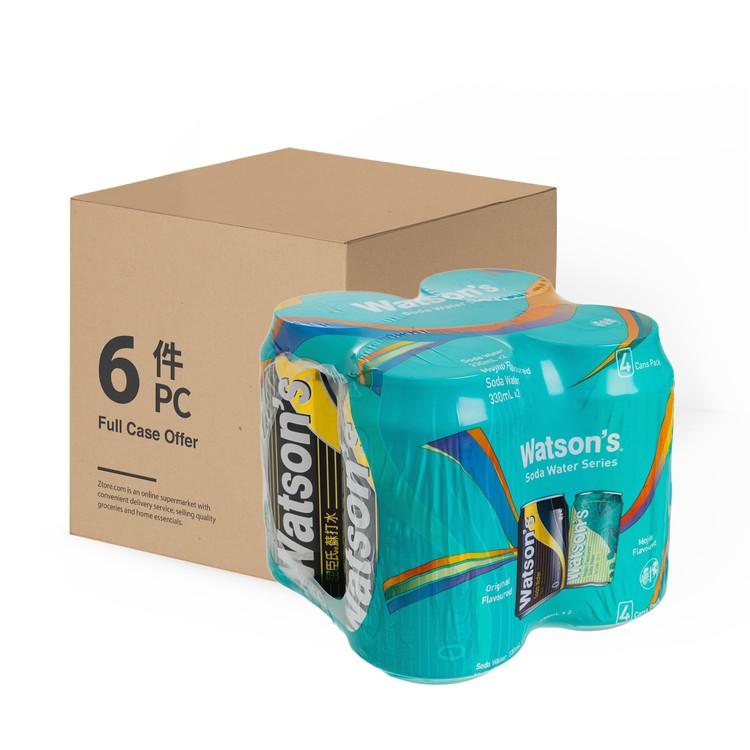 WATSONS - ASSORTED SODA WATER-MOJITO AND ORIGINAL SODA-CASE OFFER - 330MLX4X6