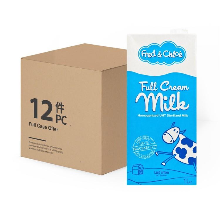 FRED & CHLOE - FULL CREAM MILK-CASE OFFER - 1LX12