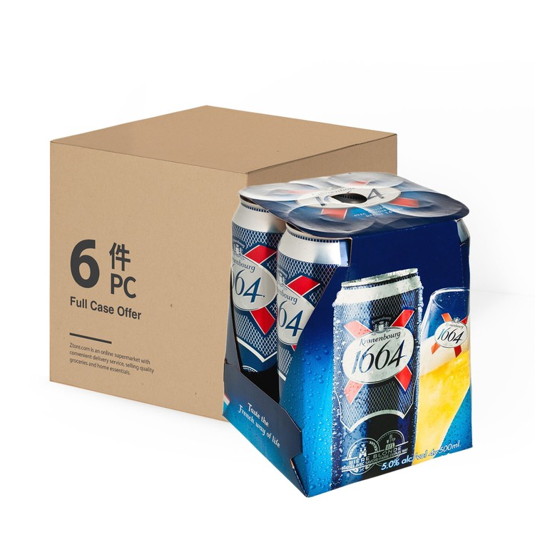 KRONENBOURG 1664 - LAGER KING CAN-CASE OFFER - 500MLX4X6