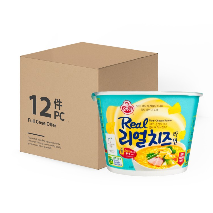 OTTOGI - REAL CHEESE CUP NOODLE-CASE DEAL - 120GX12