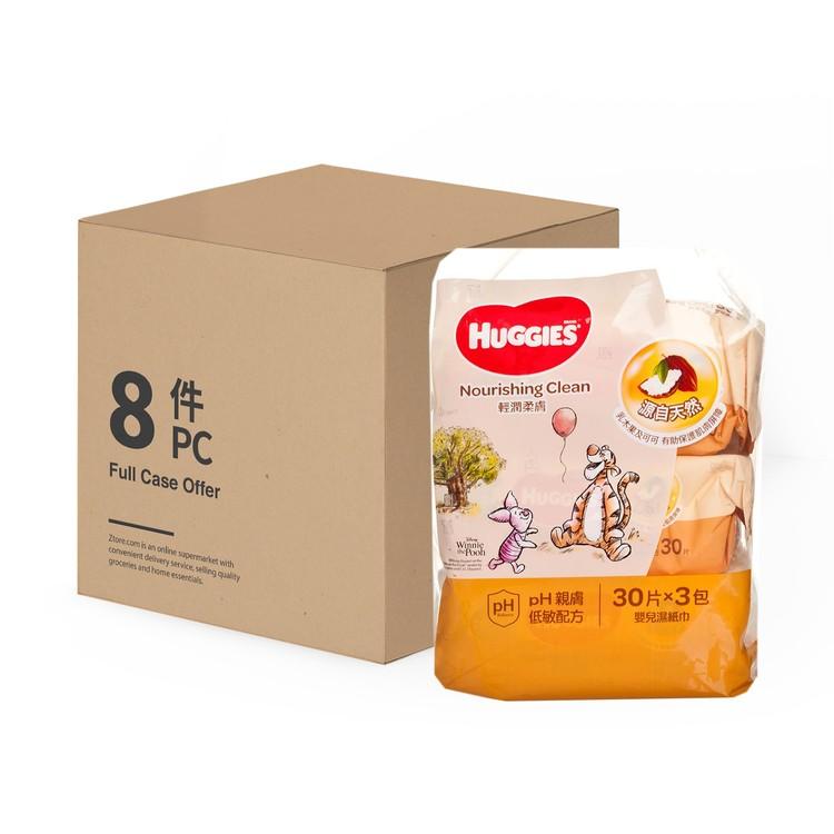 HUGGIES - 輕潤柔膚嬰兒濕紙巾 - 30'SX3X8