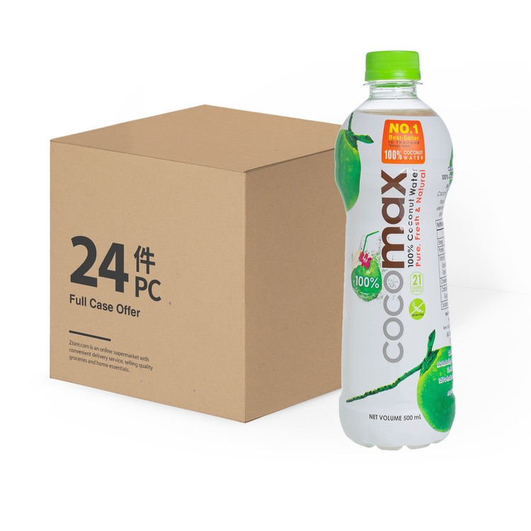 COCOMAX - 100% COCONUT WATER-CASE OFFER - 500MLX24