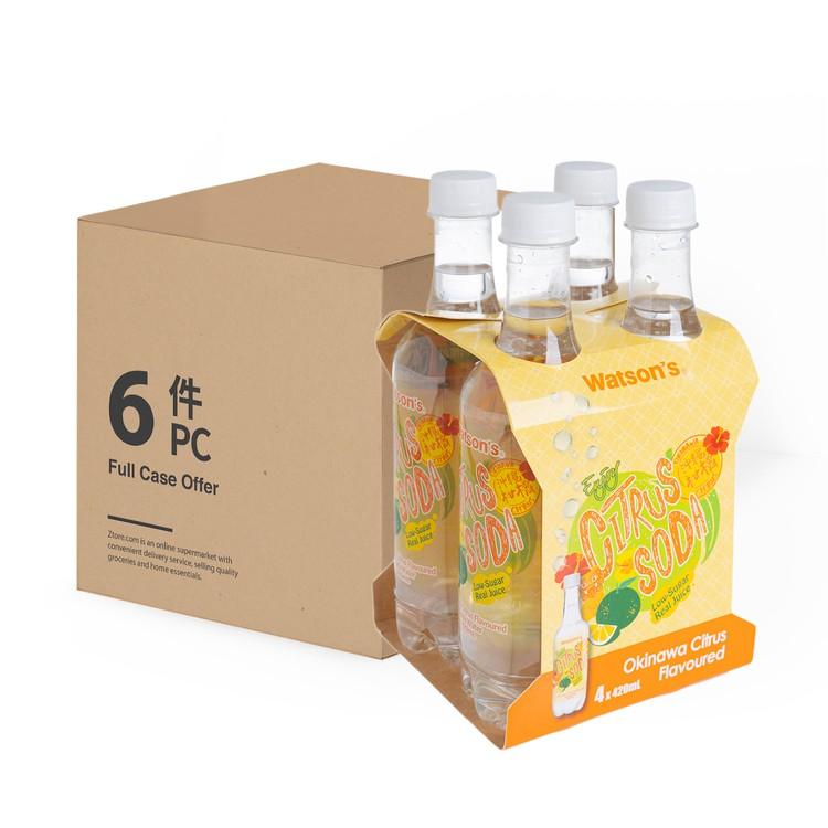 屈臣氏 - 蘇打水-沖繩酸橘子味-原箱 - 420MLX4X6