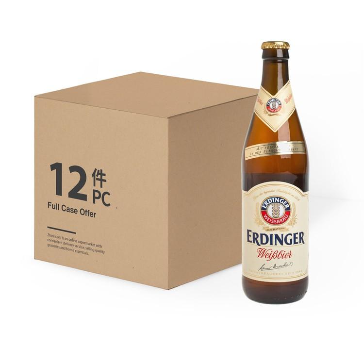 ERDINGER - YEAST (BOTTLE) - CASE OFFER - 500MLX12