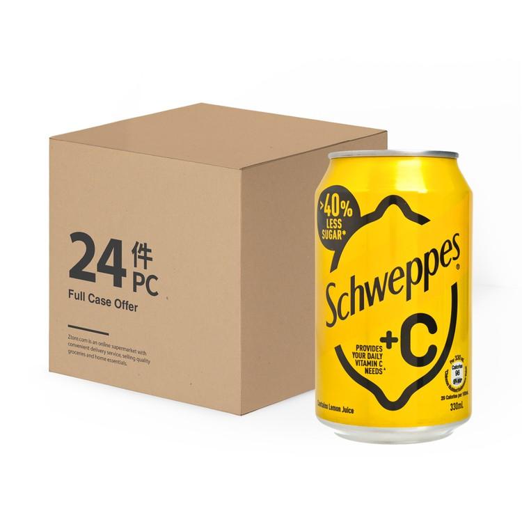 SCHWEPPES - +C LEMON SODA - 330MLX24