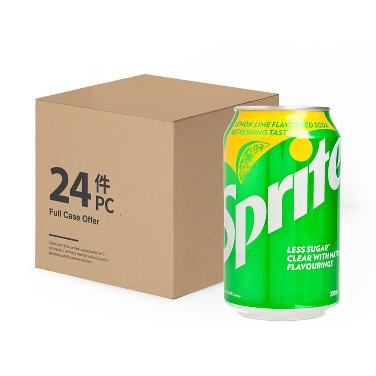 SPRITE - LEMON-LIME FLAVOURED SODA - 330MLX24