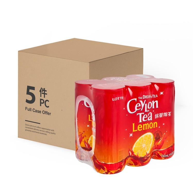 LOTTE - CEYLON LEMON TEA - 240MLX6X5