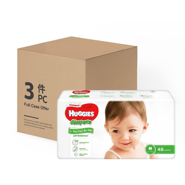 HUGGIES - DIAMOND親膚紙尿片(中碼) - 原箱 - 48'SX3