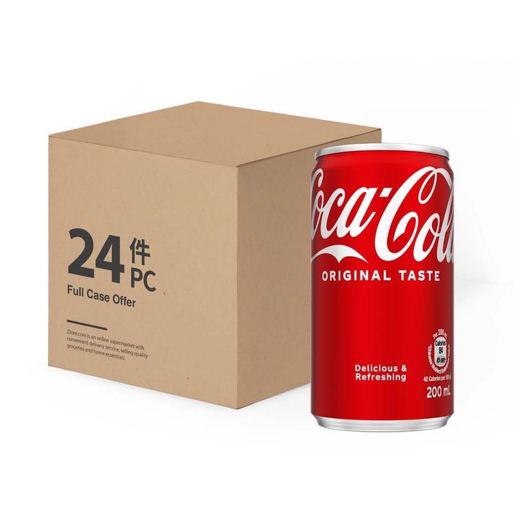 可口可樂 - 汽水迷你罐(原箱) - 200MLX24