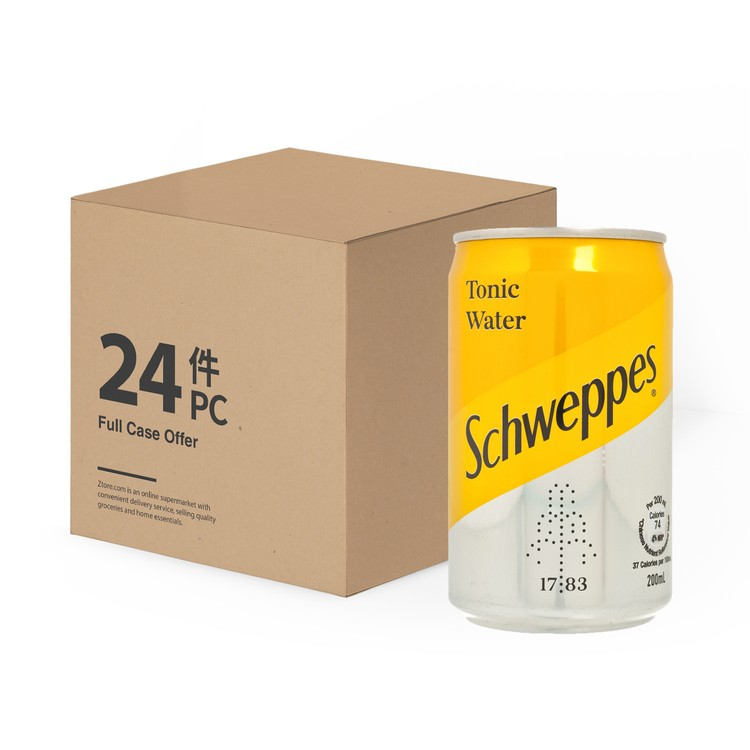 SCHWEPPES - TONIC WATER MINI CAN(CASE) - 200MLX24