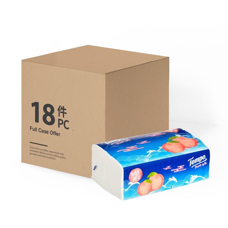 TEMPO - 四層袋裝面紙 - 甜心桃(限量版)(原箱單包裝) - 18'S