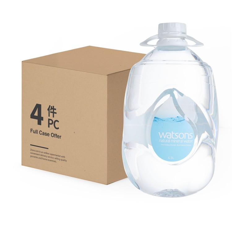 屈臣氏 - 天然礦泉水-原箱 - 4.5LX4